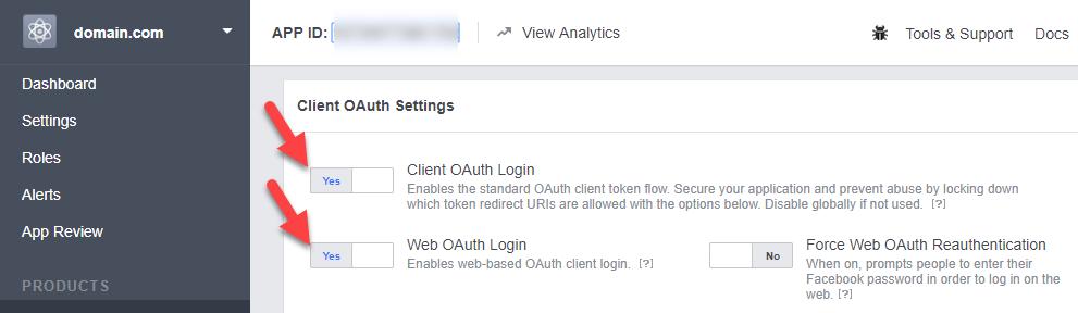 Facebook Authentication