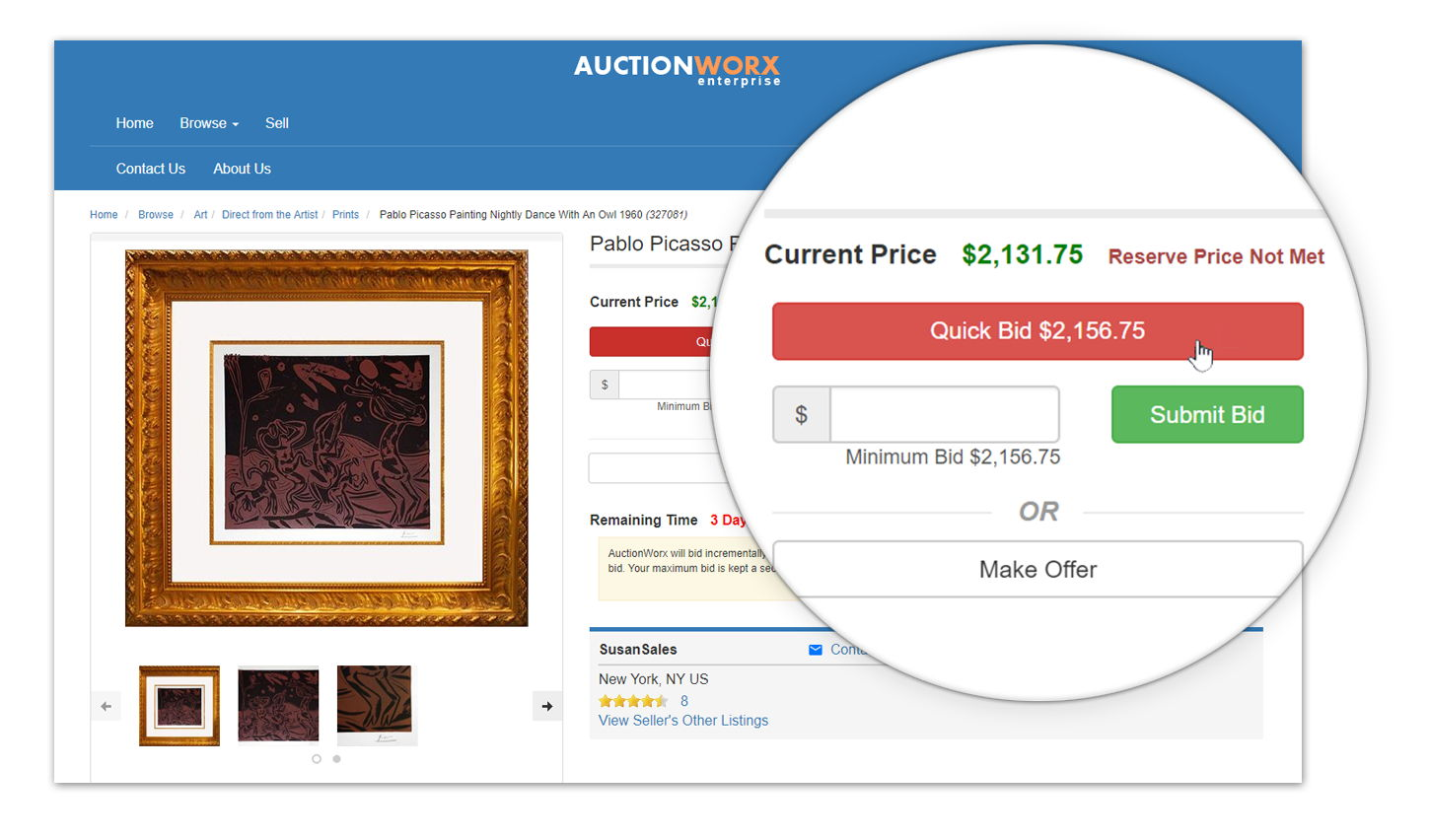 create your own auction website