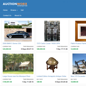 online auction software main demo
