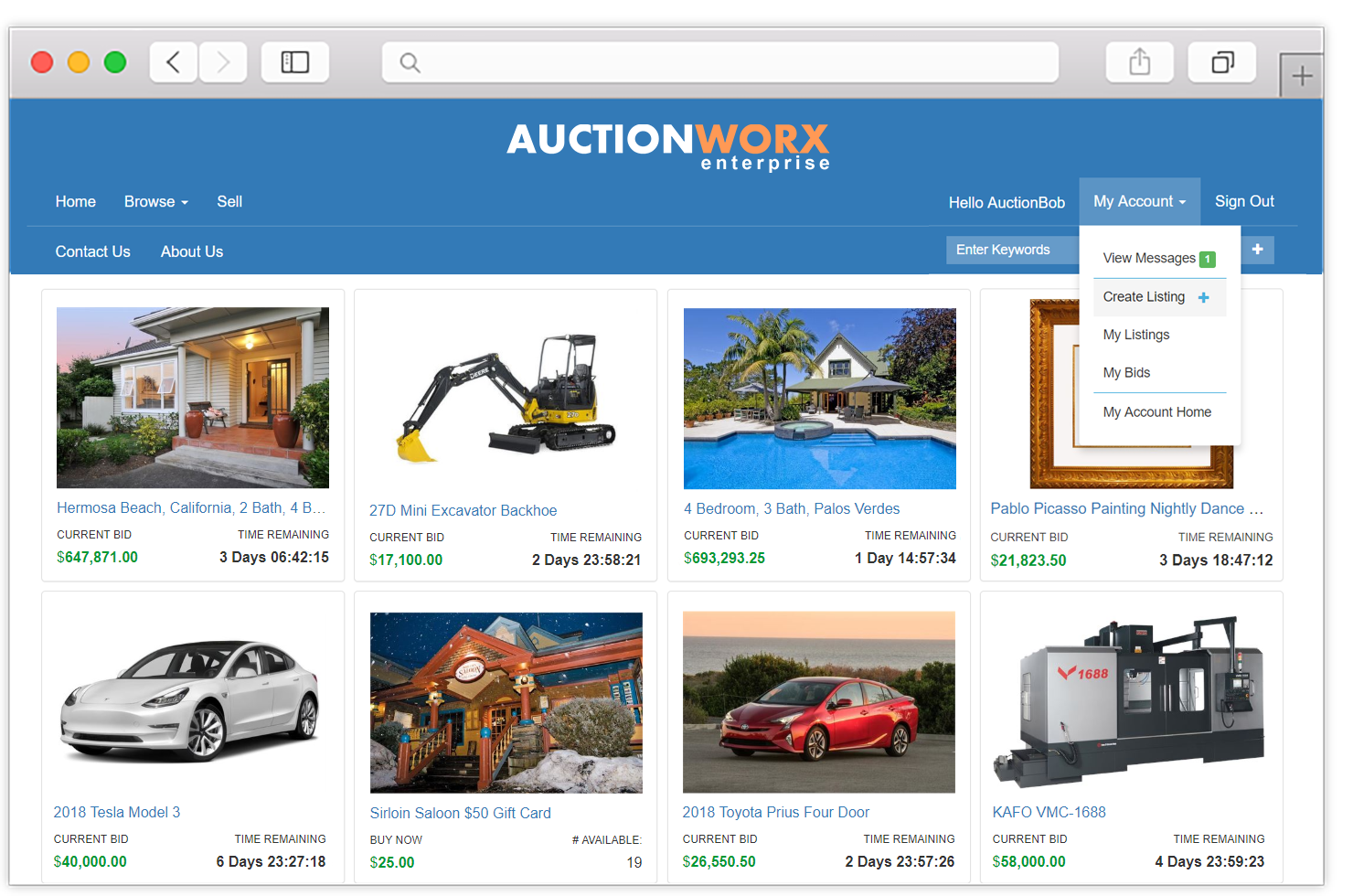 Online Auction Software Create An Auction Website Rainworx Software